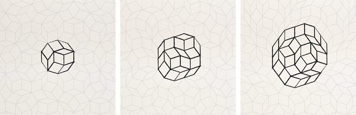 Le motif géométrique Penrose dessine les tables d'Ich&Kar
