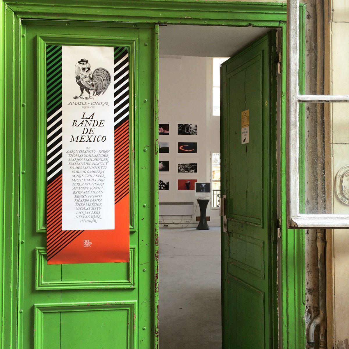 Exposition La Bande de Mexico, opening, durant la Paris Design Week, avec Ich&Kar, Emmanuel Picault, Baranbé Fillon et autres Amigo, au restaurant le Derrière.