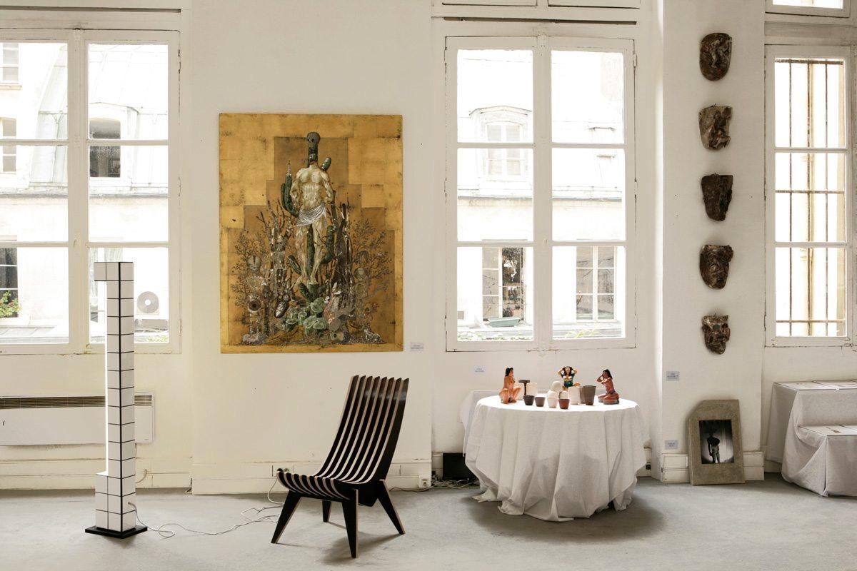 Exposition La bande de Mexico, Paris Design Week 2014, tableau de Eudes Menichetti, restaurant le Derrière