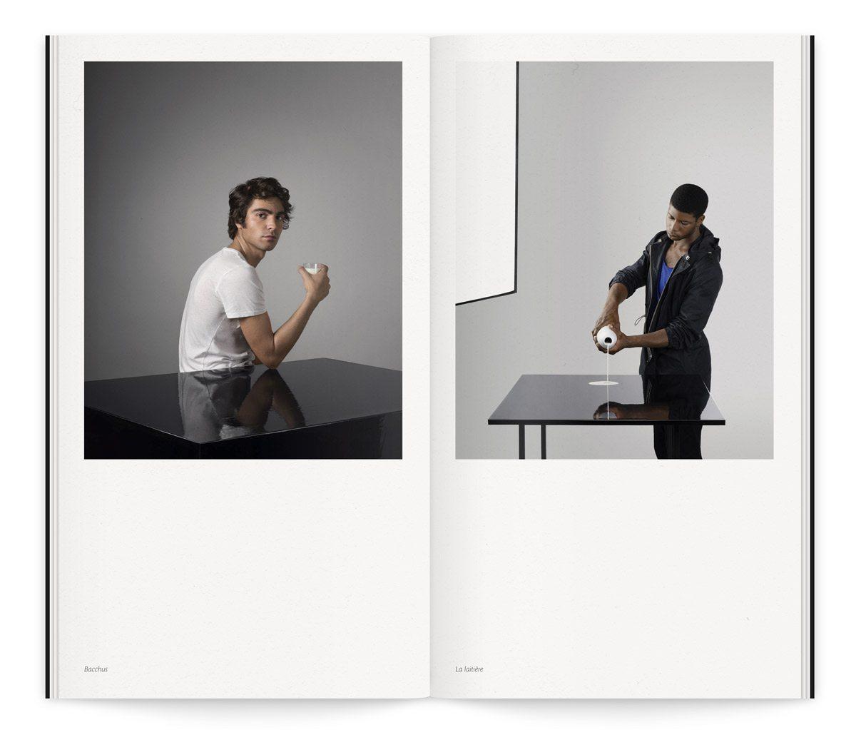 Catalogue de l'exposition Lac de Colombe Clier, texte de Yves Mirande. Une mise en page pure et délicate, design Ich&Kar