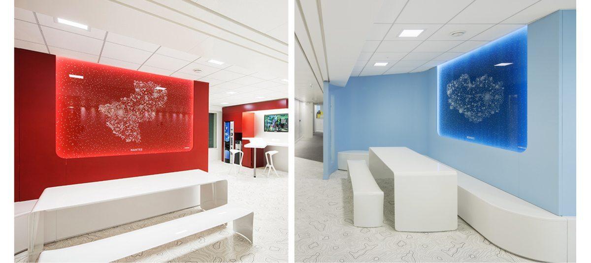 Les panneaux lumineux de la tour ERDF, design IchetKar