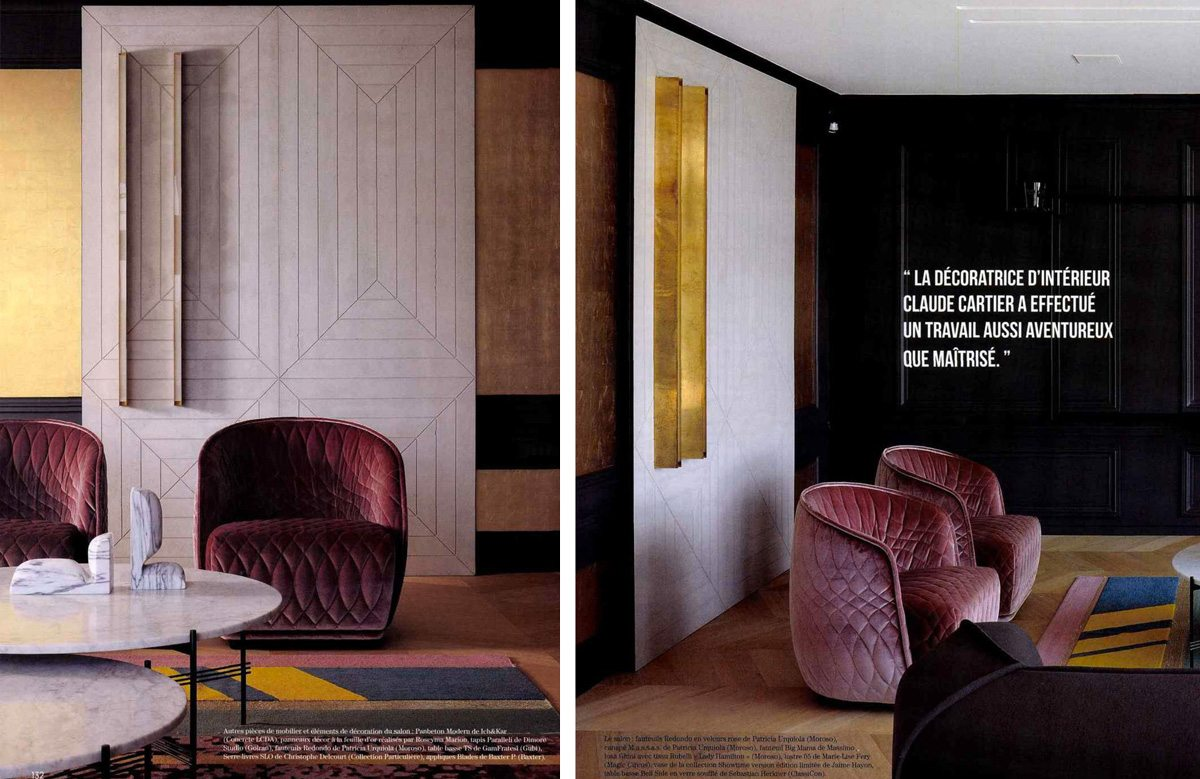Panbeton Modern dessiné par IchetKar pour Concrete LCDA est le choix de la décoratrice d'intérieur Claude Cartier pour la Maison A à Ecully