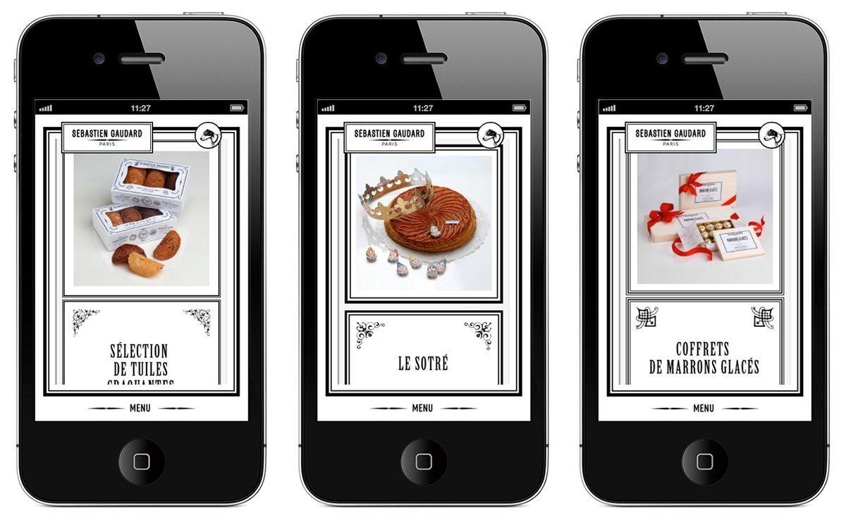 Le site responsive de Sébastien Gaudard sur Iphone, design Ich&Kar