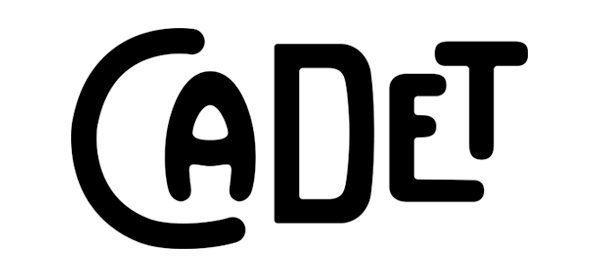 Logo du restaurant cadet de Santa Monica. Le Logotype aux lettres inspirées des carnets de cartes postales d'antan. Dessiné par Ich&Kar