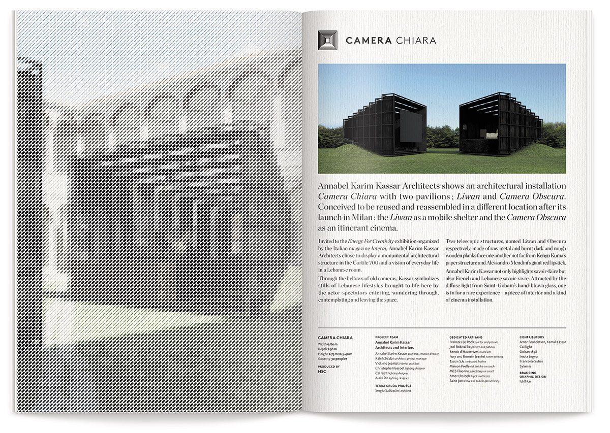 Camera Chiara livret exposition Annabel Karim Kassar, design IchetKar