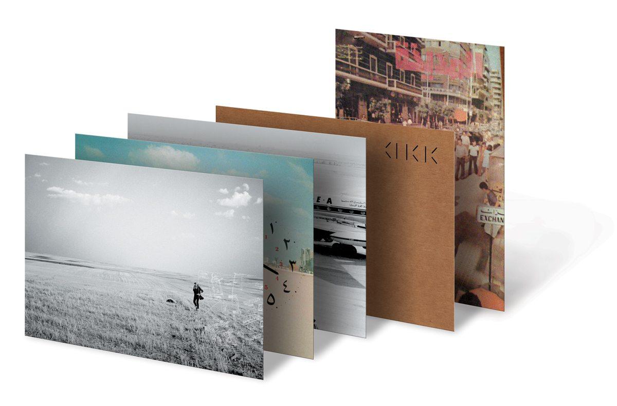 Cartes postales d'Annabel Karim Kassar. Une série imprimée sur une cartonnette au verso kraft qui raconte l'univers d'Annabel, ses voyages, ses racines