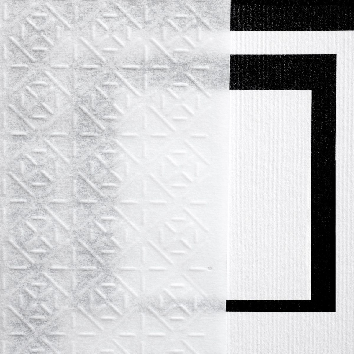 Chemise en Pergamenata gaufrée laissant apparaitre en semi-transparence, sous le relief du motif, les documents. Design Ich&Kar