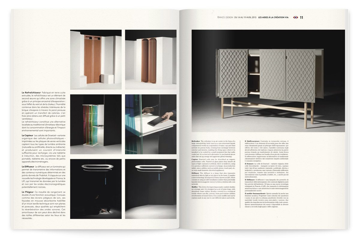 France Design 2015 catalogue Design Ich&Kar VIA