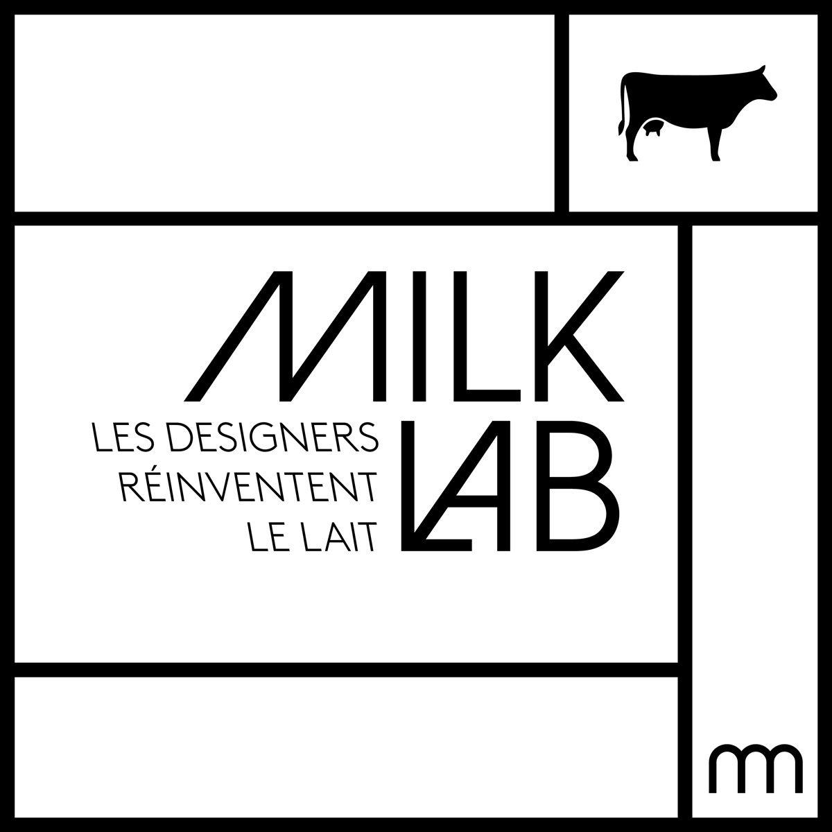 """Identité visuelle de l'exposition Milk Lab """"Les designers réinventent le lait"""", direction artistique, branding Ich&Kar"""