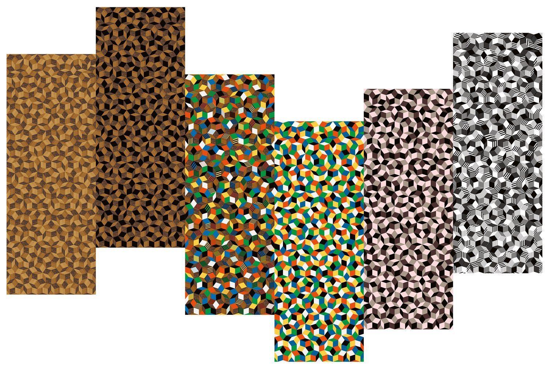collection Penrose wallpaper papier print géométrique enivrant présenté au Penrose project