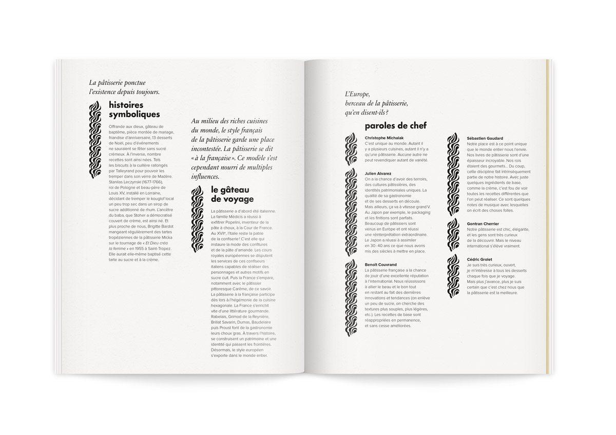 Catalogue la crème de la crème, histoire autour de la pâtisserie qui ponctue l'existence depuis toujours