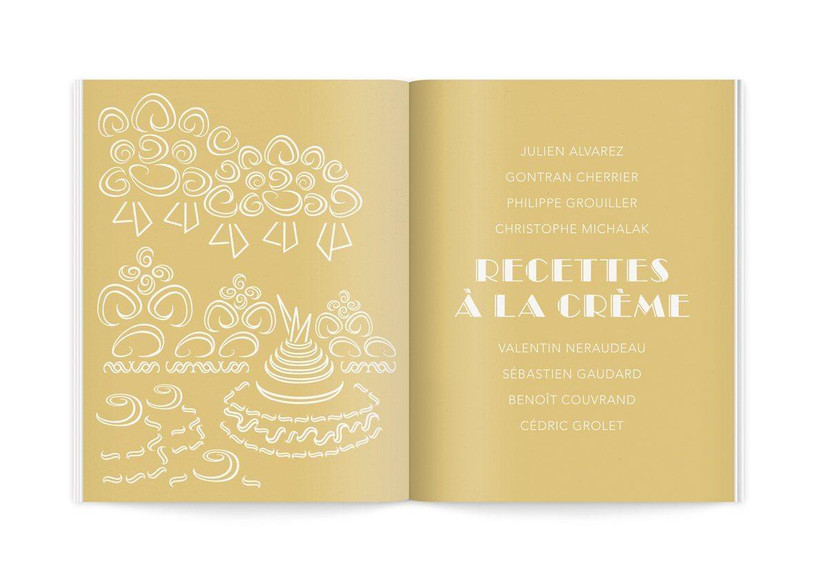 Les pâtissiers de La crème de la crème, illustrations graphiques des pâtisseries