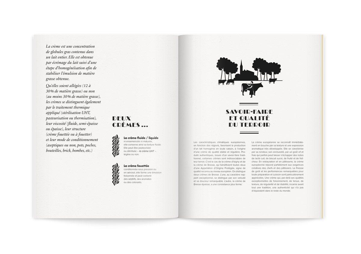 Catalogue la crème de la crème, les deux crèmes différentes, liquide et fouettée, le savoir-faire et la qualité du terroir illustrés par IchetKar