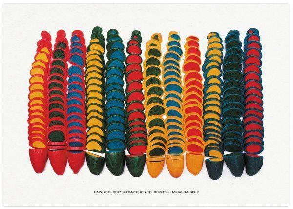 Pain colorée traiteurs coloristes Dorothée Selz et Antony Miralda, Eat art