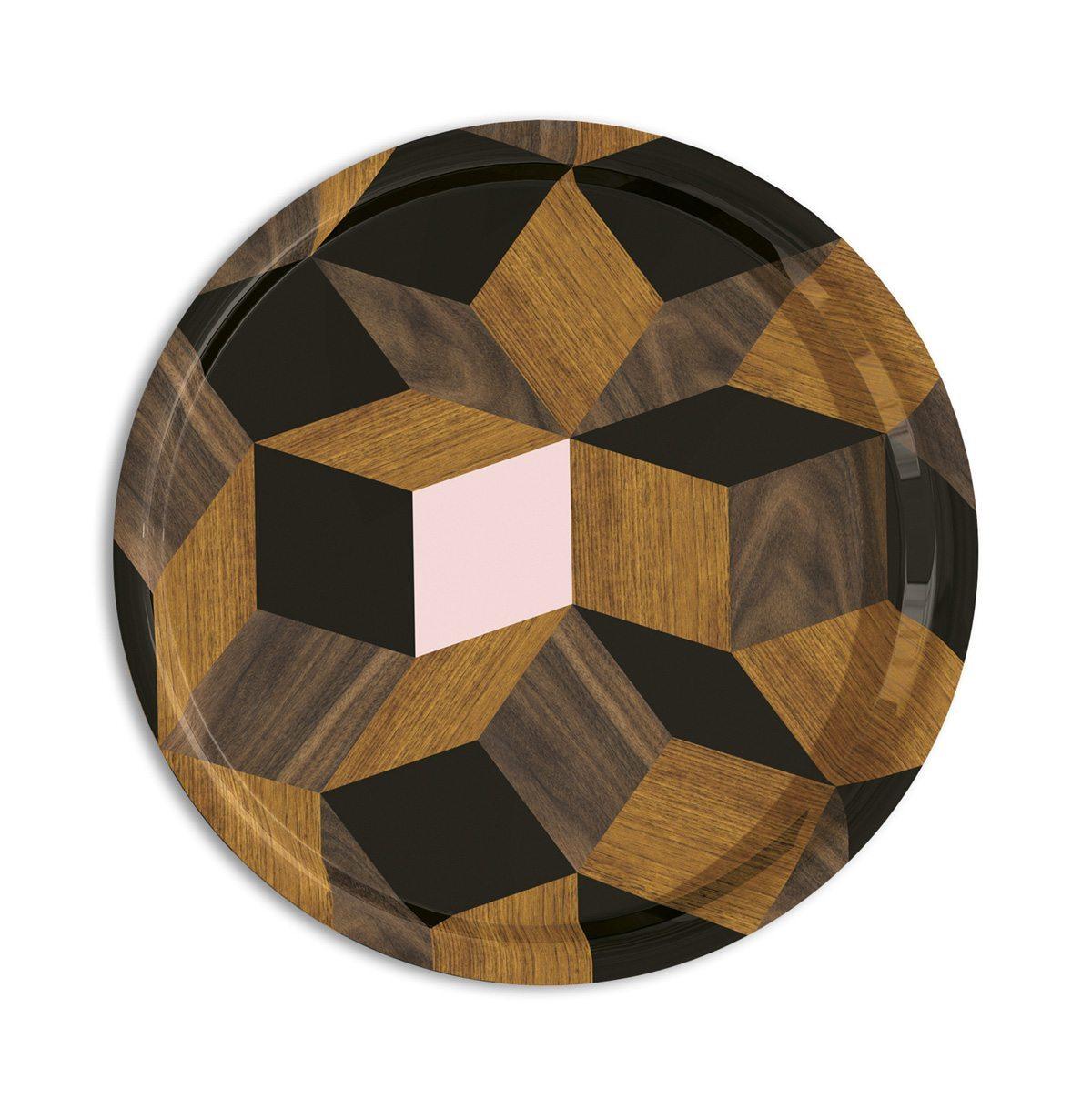 plateaux Penrose springwood, modèles round, design Ich&Kar édition Bazartherapy