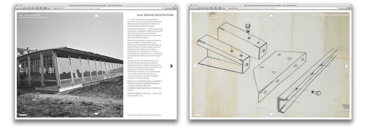 galerie 54 fiche archive de la structure nomade de jean prouvé