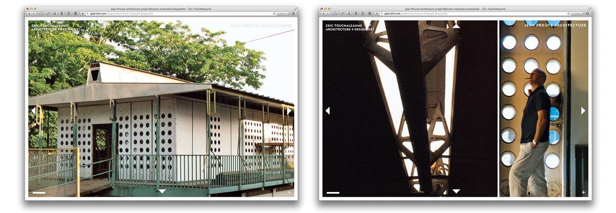 photo d'archive de la maison tropicale de jean prouvé à brazzaville