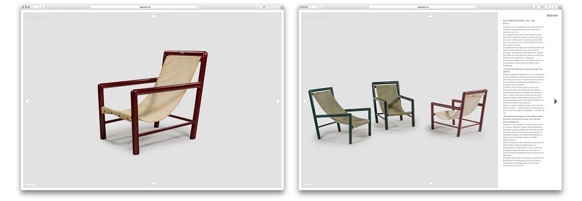trois fauteuils de jardin laqués de robert mallet-stevens avec fiche technique - - eric touchaleaume