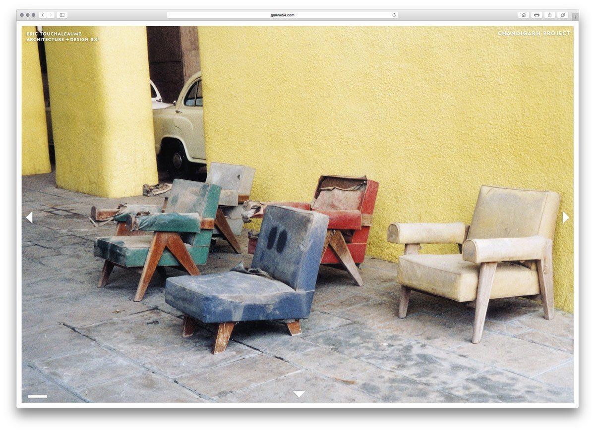 sélection de fauteuils de le corbusier à chandigarh