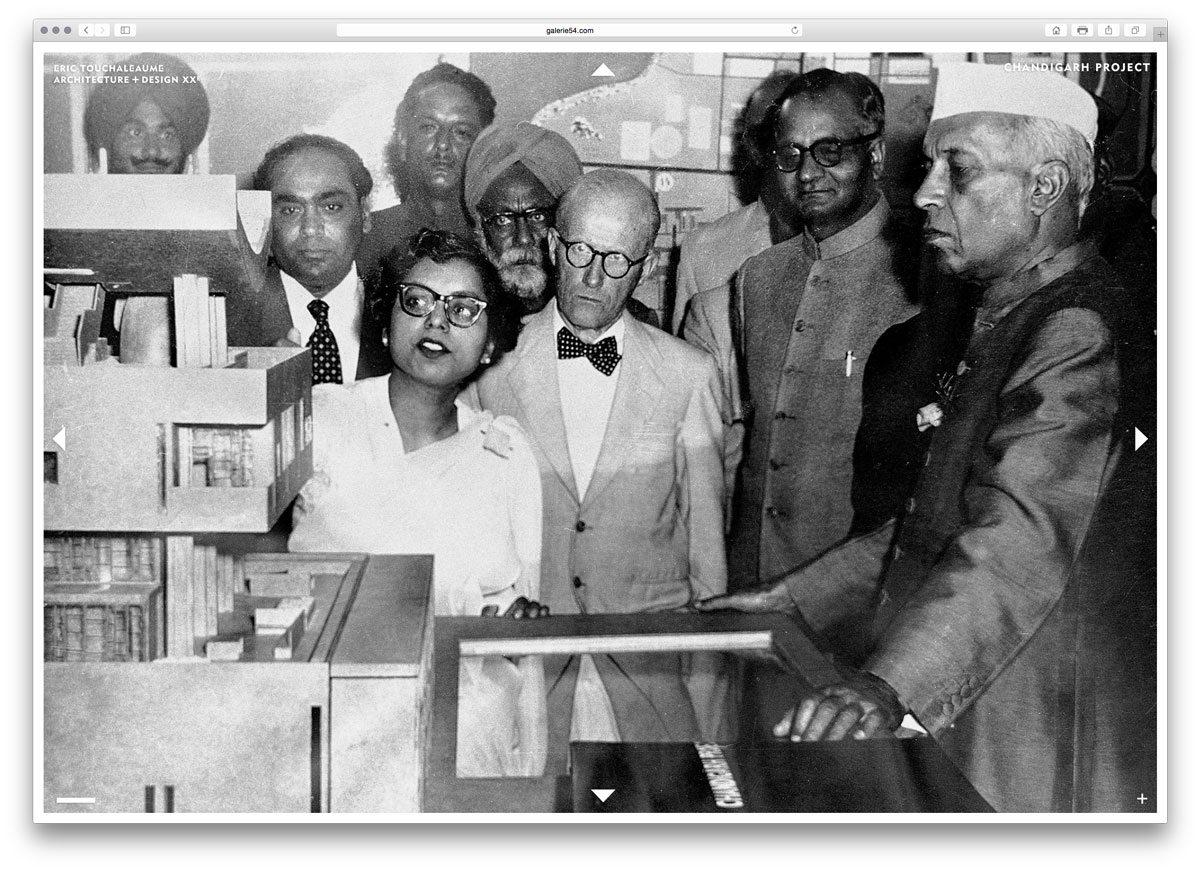 photo d'archive de pierre jeanneret à chandigarh