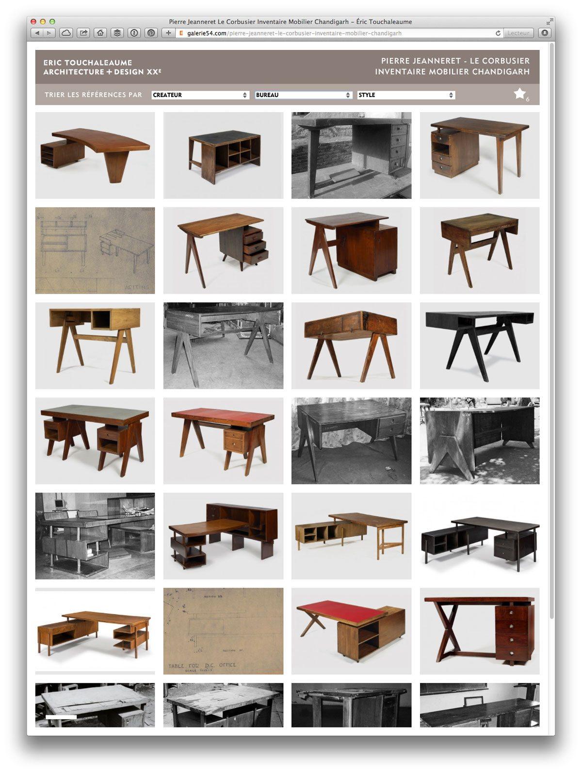 site galerie 54 grille rubrique inventaire de chandigargh recherche par bureau