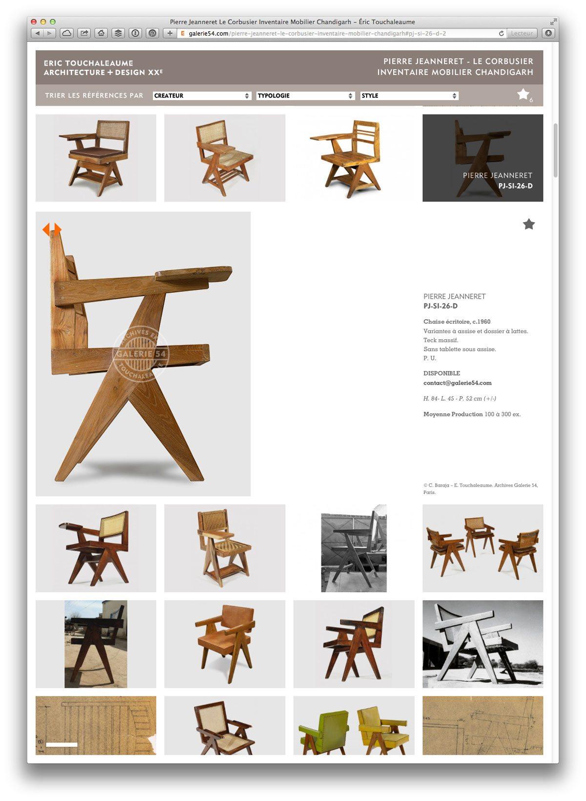 site galerie 54 rubrique inventaire de chandigarh fiche chaise de pierre jeanneret
