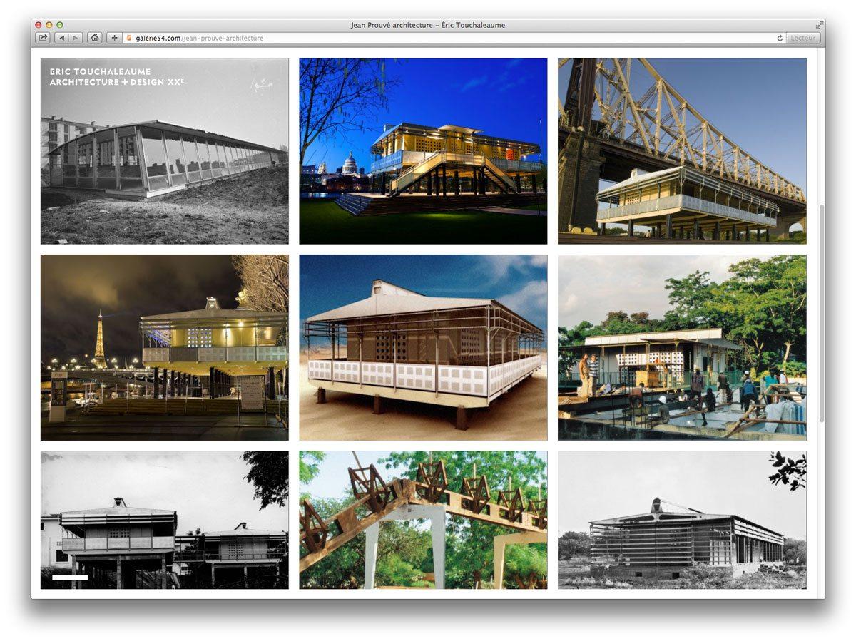 design site internet eric touchaleaume accueil jean prouvé architecture légère