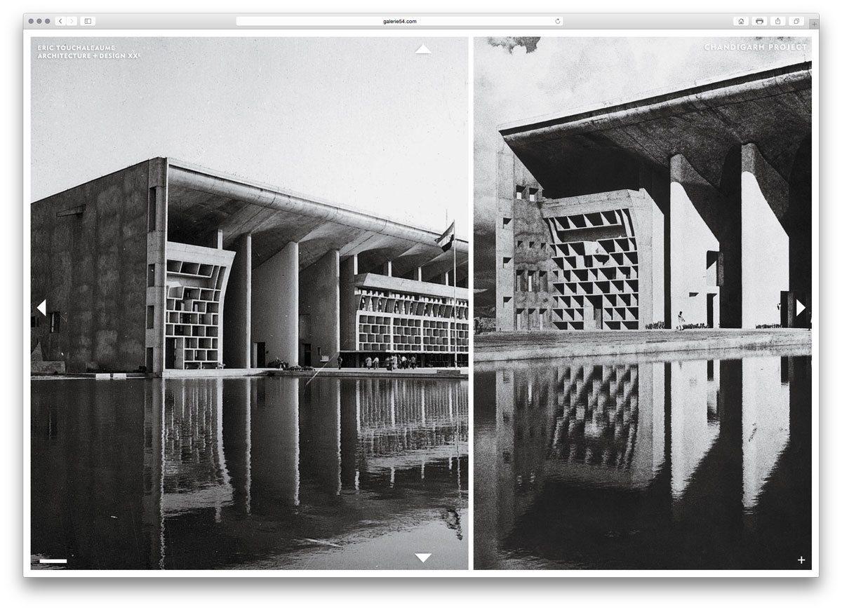 galerie 54 haute cour et palais de justice de chandigarh par le corbusier