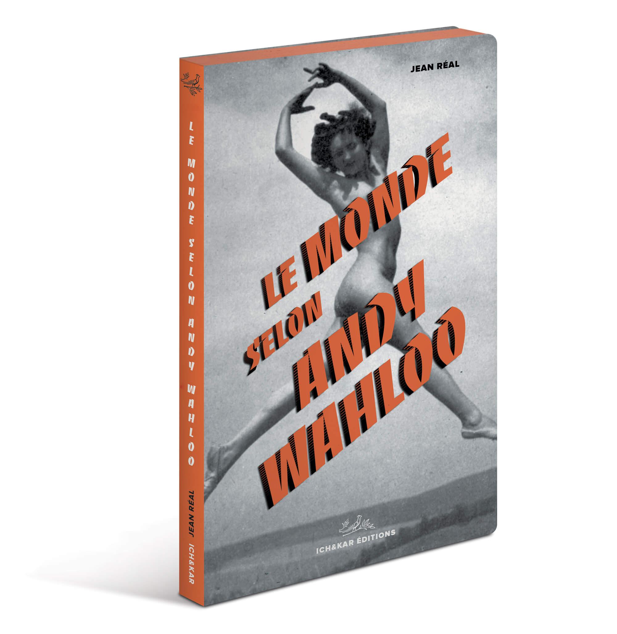 Couverture du livre-menu du bar Andy Wahloo, l'auteur Jean Réal écrit 16 nouvelles dans un recueil «Le Monde selon Andy Wahloo» mêlant la carte des alcools du bar et les tribulations alcoolisées d'Andy Wahloo, design Ich&Kar