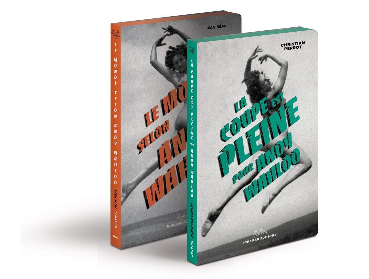 """Les deux éditions du livre-menu du bar Andy Wahloo, édition 2015, """"La coupe est pleine pour Andy Wahloo"""", nouvelles de Christian Perrot qui accompagne la carte des alcools, design Ich&Kar"""