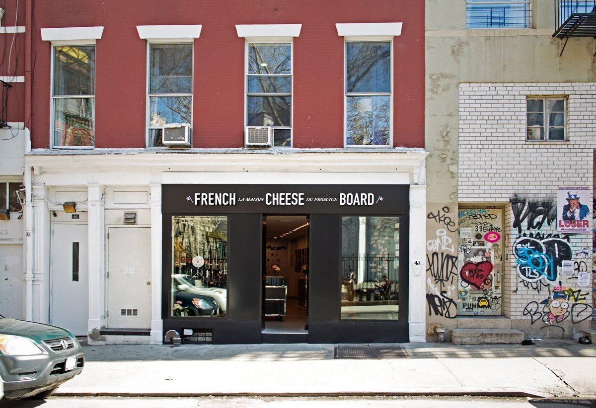 front door of French Cheese Board in new york city photo by Pascal Perich