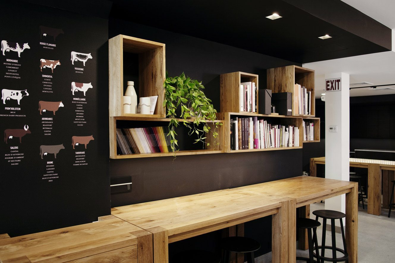 French Cheese Board library with oak tables photo by Pascal Perich