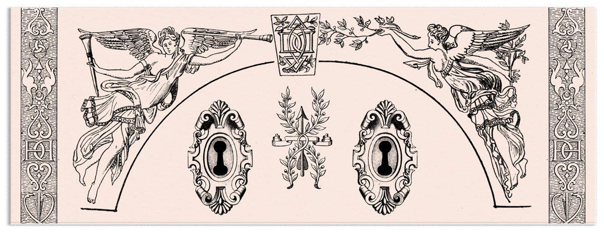 illustration avec gravures de diane chasseresse et lettrines par ichetkar pour le café le cercle des dianes au carré des antiquaires