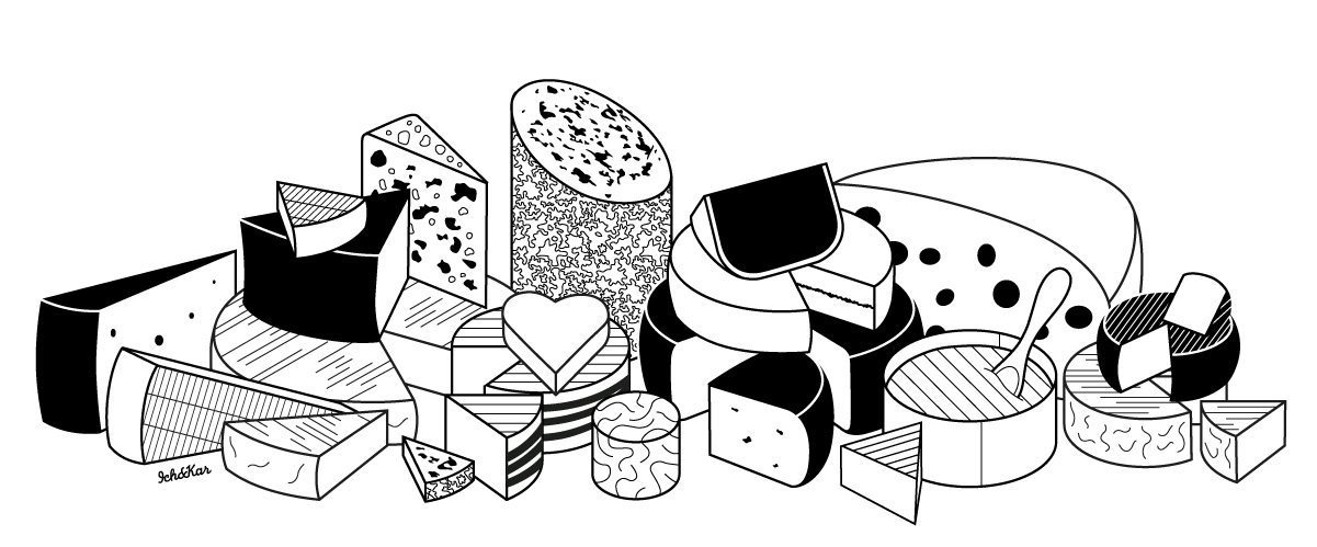 illustration plateau fromage ichetkar french cheese board