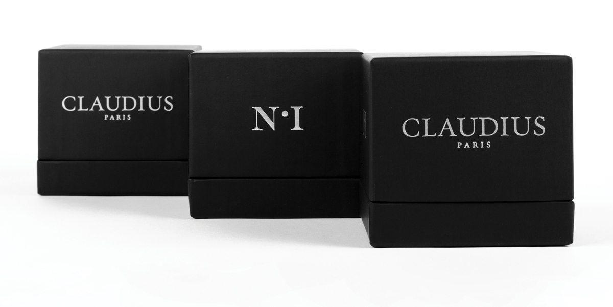 packaging Claudius n°1, soin naturelle et 100% non toxique, photo et identité graphique IchetKar