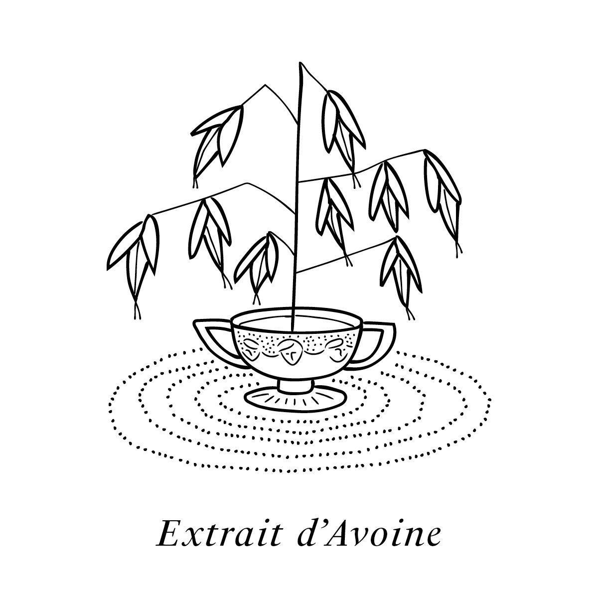 L'extrait d'avoine illustré par IchetKar, un des 19 actifs de la crème de jour et de nuit Claudius N°1