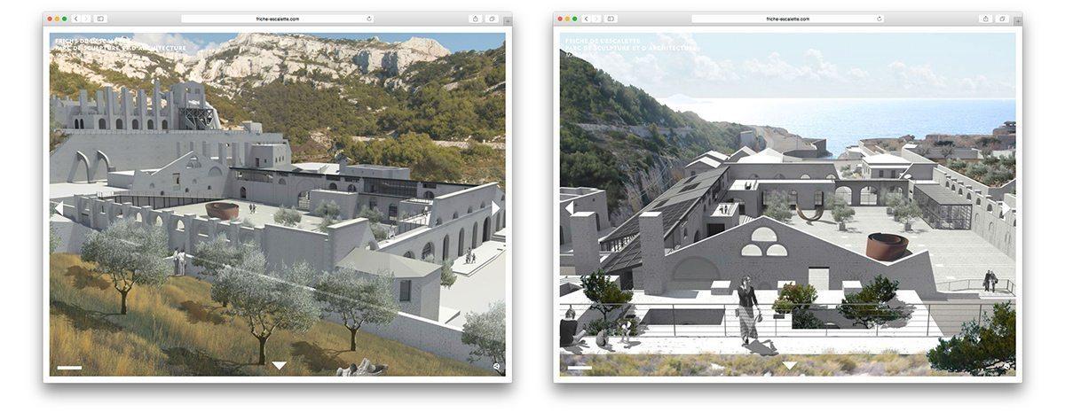 La Friche de l'Escalette dans le Futur, le projet en 3D d'un centre d'art contemporain.