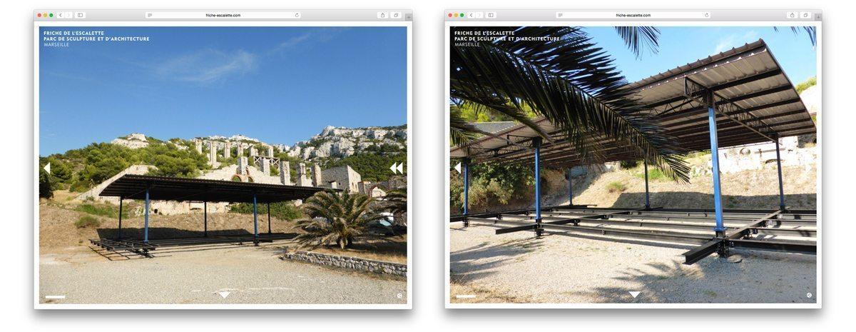 Eric Touchaleaume organise l'exposition de l'Habitat Tropical du Cameroun de Jean Prouvé et de l'Atelier LWD à la Friche de l'Escalette à Marseille.