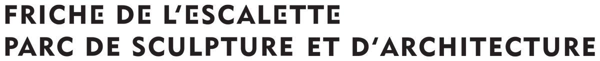 Logo de la Friche de l'Escalette, parc de sculpture et d'architecture, lieu réhabilité par Eric Touchaleaume, design IchetKar