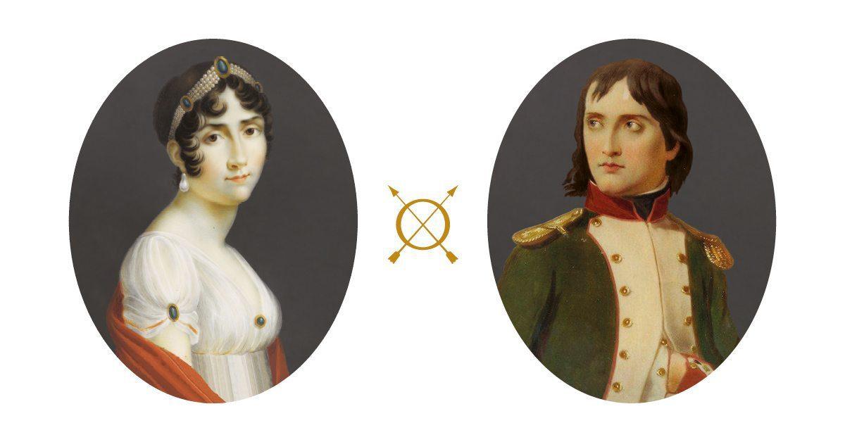 Portraits de joséphine et de Napoléon, hôtel de Jobo, design IchetKar