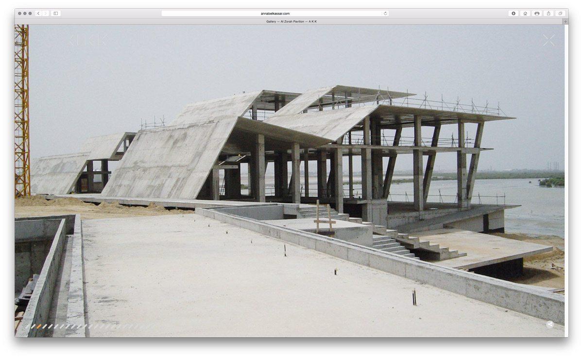 annabel karim kassar akk plein écran site web architecture