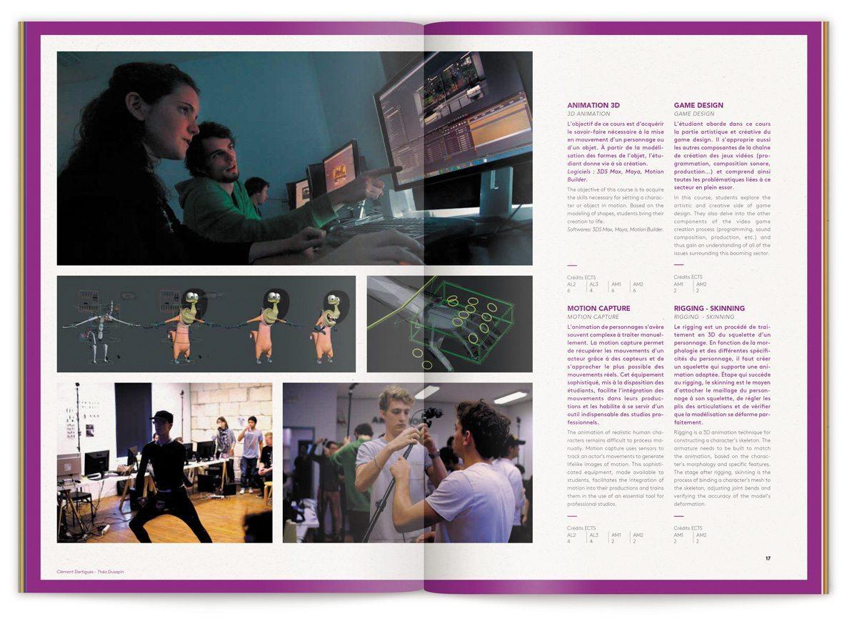 Exemple de travaux d'étudiant de l'ECV dans le cursus animation, design IchetKar