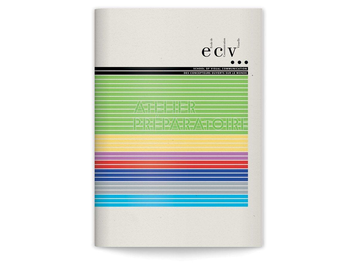 La couverture de la brochure atelier préparatoire de L'ECV, design IchetKar