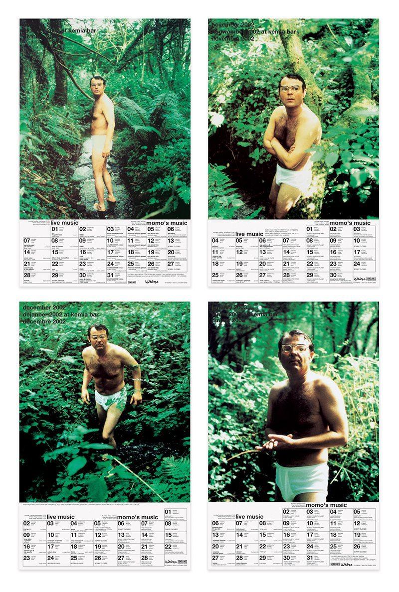ichetkar diary at momo jean-luc guérin homme en slip dans la forêt calendrier