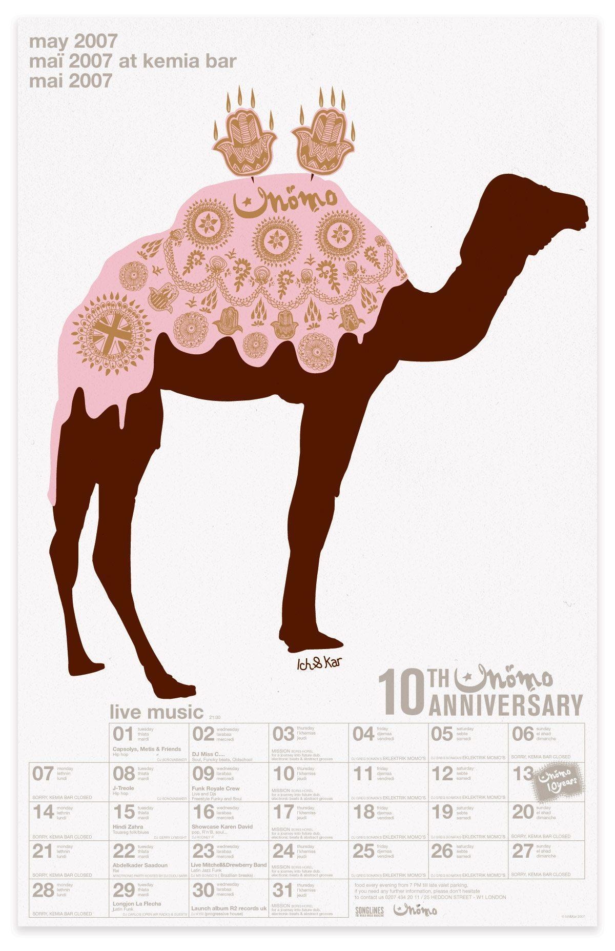 ichetkar diary at momo 10 anniversaire calendrier