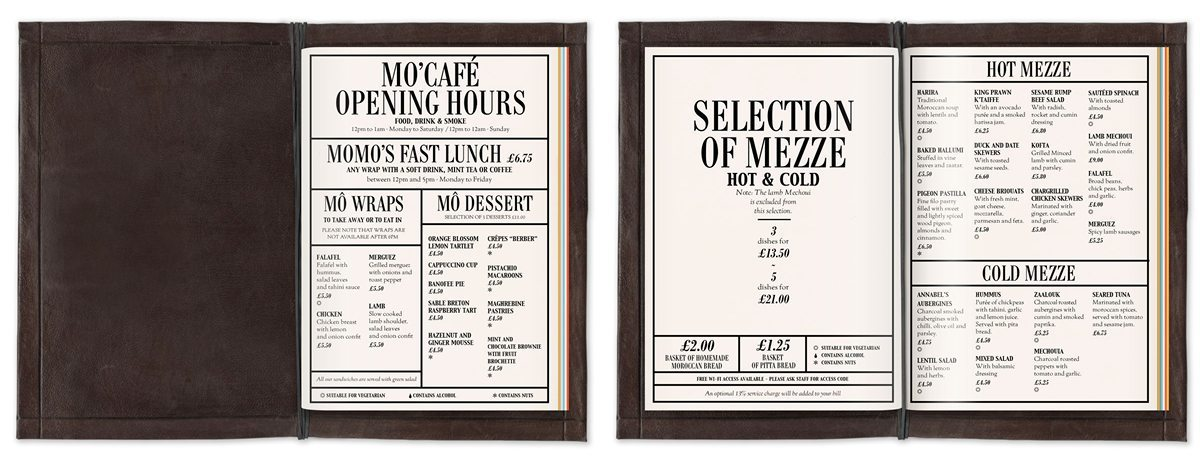 mo'café menu mezze momo london