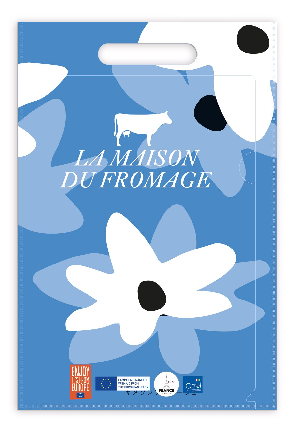 sac clear file maison du fromage tokyo all over fleurs