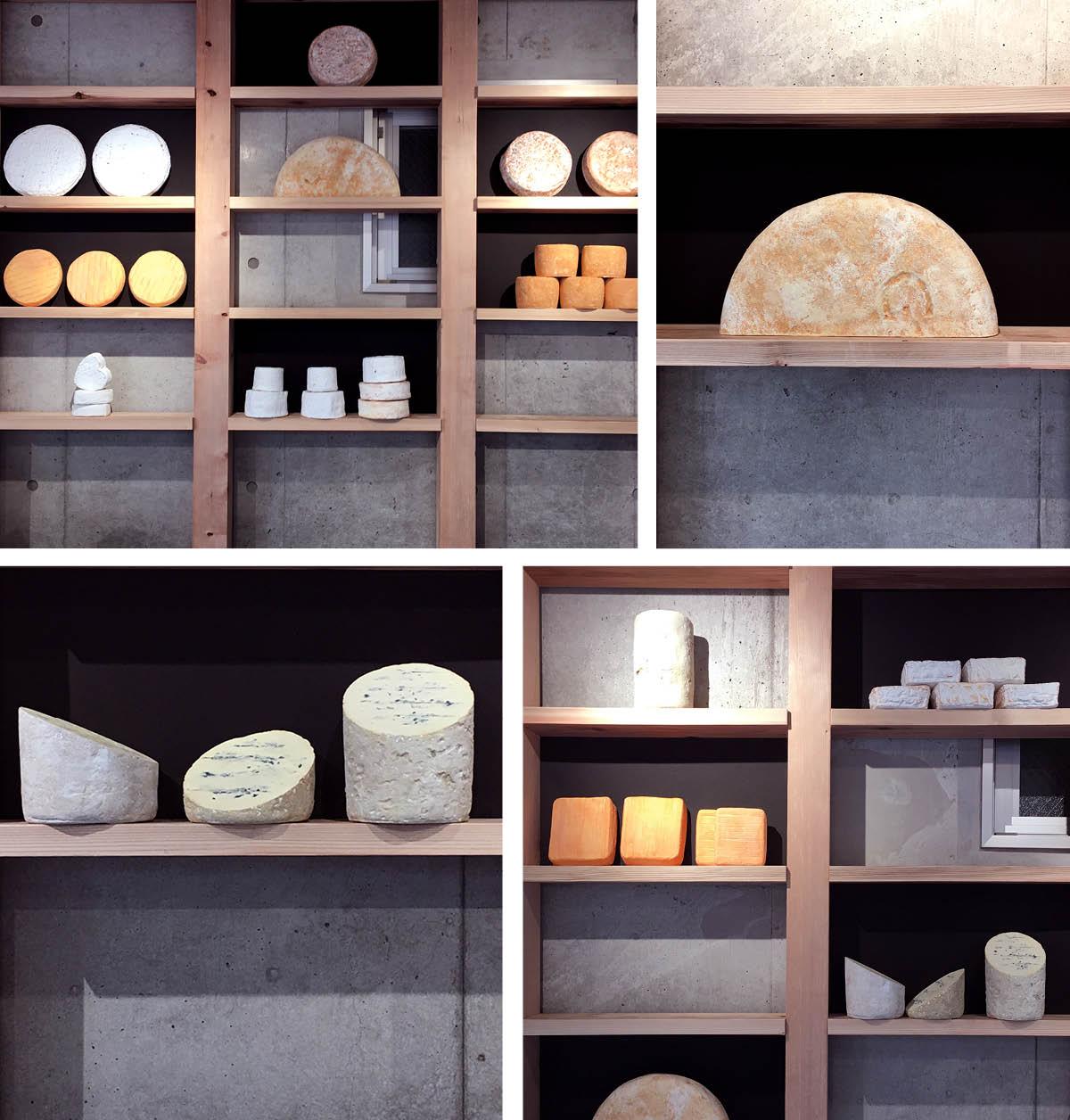 maison du fromage tokyo étagères de fromages