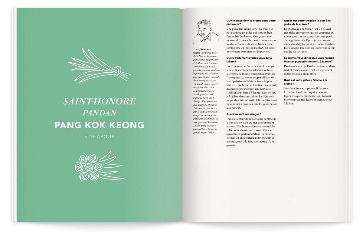 saint-honoré pandan pang kok keong illustration ichetkar