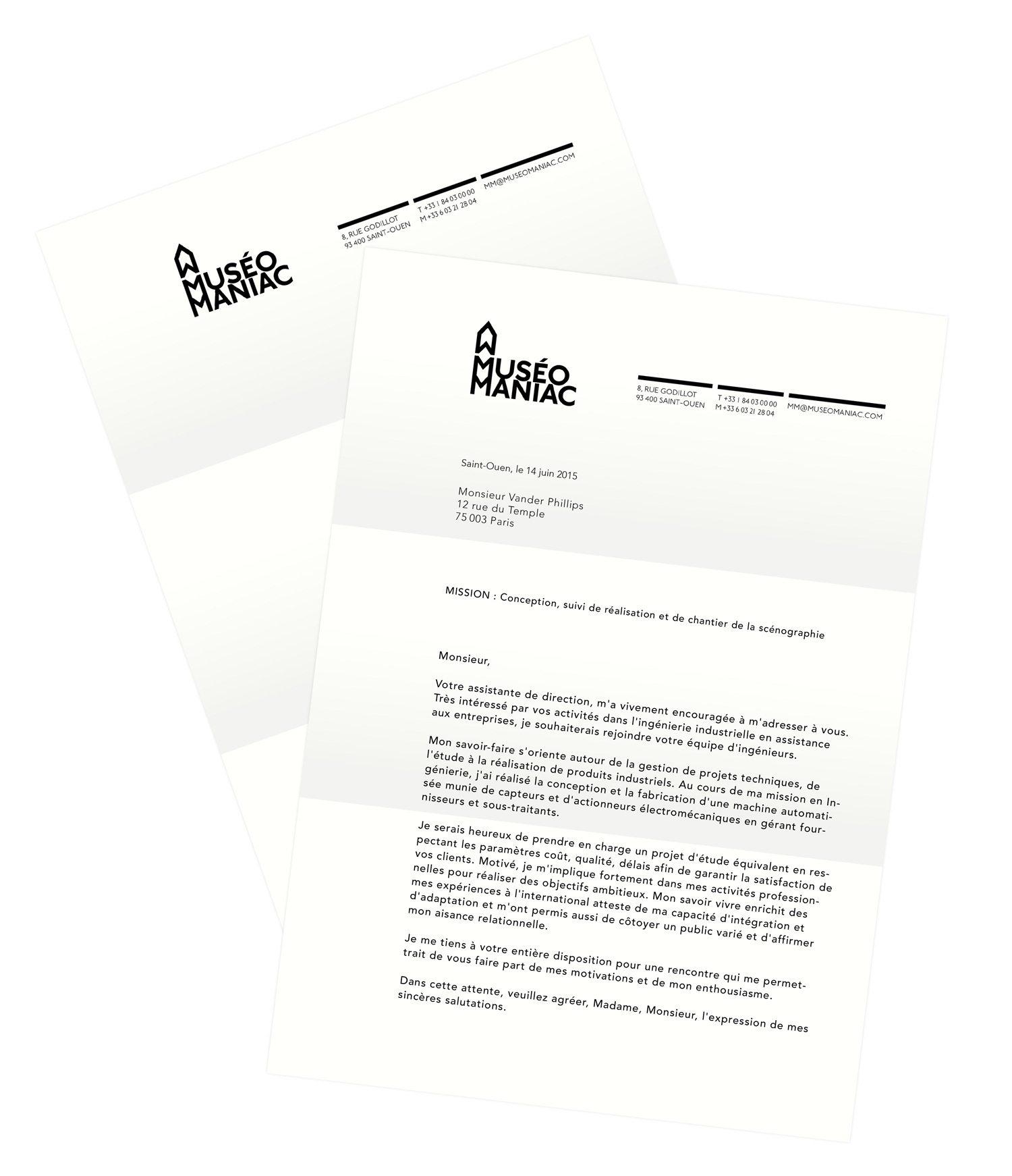 Le papeterie de MuséoManiac, papier a lettre, graphiste IchetKar